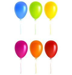 Set colorful balloons vector