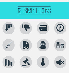 Set simple trouble icons vector