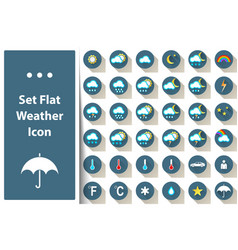 set weather icon cloud sun rain star vector image