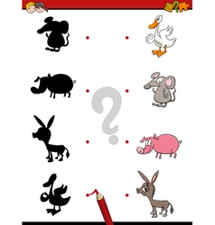 shadow game with animals vector image
