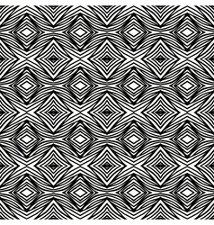 Simple geometric black and white pattern vector image