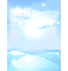snowy winter landscape background - vertical vector image