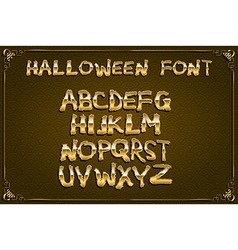 spooky and magical alphabet set vector image