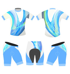 Sports bicycle apparel blue colors style vector