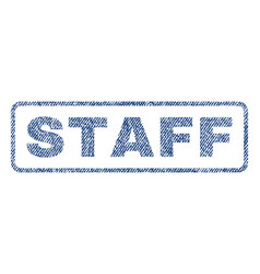 Staff textile stamp vector