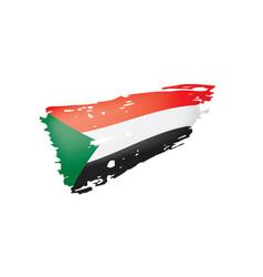 sudan flag on a white vector image