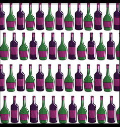 Tasty bottles of wine background icon vector