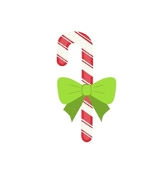 Traditional celebratory Christmas candy with green vector image