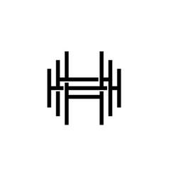 triple h monogram hhh letter hipster lettermark vector image