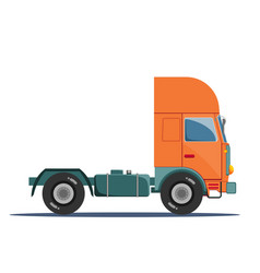 truck without a trailer on a white background vector image