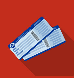 Two airline tickets icon in flat style isolated on vector