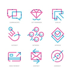 User Experience Icons vector