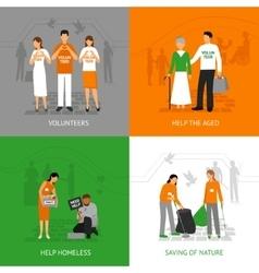 Volunteers design concept vector
