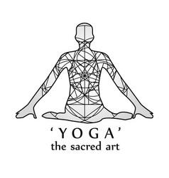 yoga- the sacred art vector image