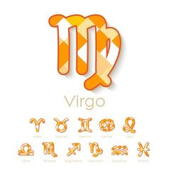 Zodiac Symbol Icons vector image