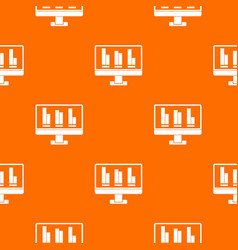business graph at computer screen pattern seamless vector image vector image