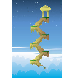 digital stairs into the dark blue sky vector image