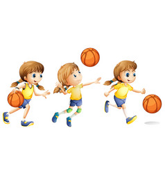 girl playing different sports vector image
