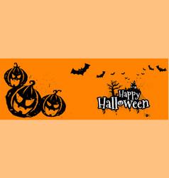 happy halloween typography scary horror vector image vector image