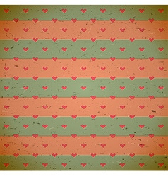 Heart pattern on the old cardboard vector image vector image