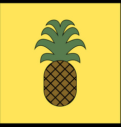 pineapple icon in flat style isolated vector image
