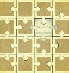 Retro Puzzle Background vector image