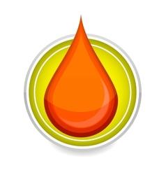 elegance medic symbol blood drop red color vector image