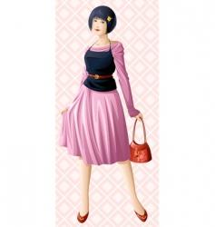 girl on walk vector image