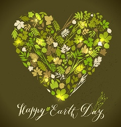 Happy earth day background Nature abstract vector image vector image