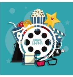movie film cinema icon graphic vector image