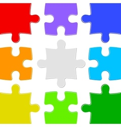 Nine color puzzles vector image vector image