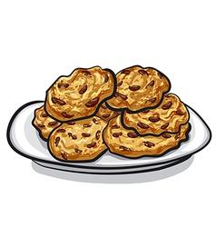 oatmeals cookie vector image vector image