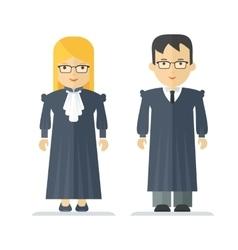 profession judge man and woman vector image