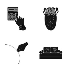 Bank medicine textiles and other web icon in vector