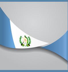 guatemalan wavy flag vector image vector image