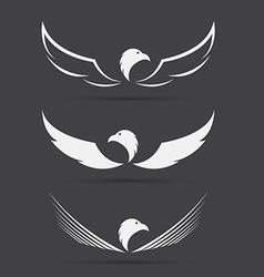 image of an eagle design on black background vector image vector image