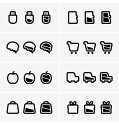 Indicator icons vector image vector image