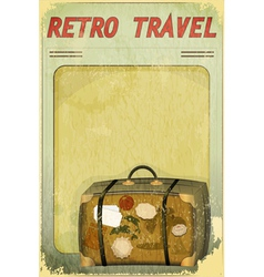Old Suitcase on grunge background vector image