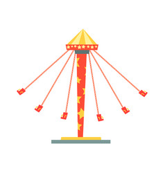swinging carousel with seats on chains vector image vector image