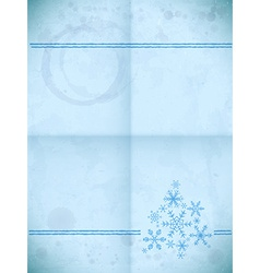 Aged paper card with snowflakes vector image
