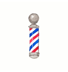 Barber pole Watercolor barber poles on the white vector image