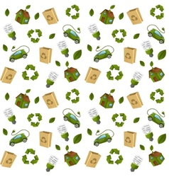 Eco technology pattern seamless vector image vector image