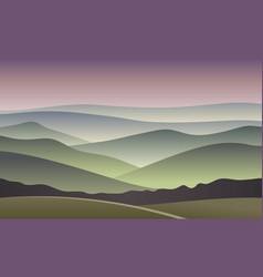 sunrise blurred mountain background vector image