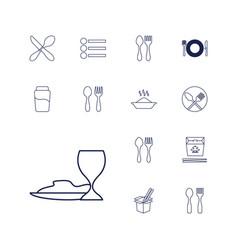 13 menu icons vector