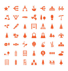 49 tree icons vector image