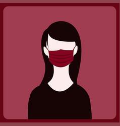 A girl wearing face mask concept vector