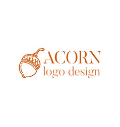 acorn logo design vector image