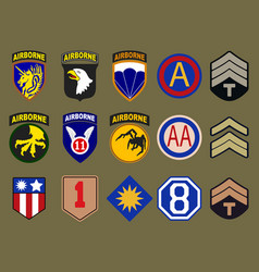 Airborne air force and army patches vector