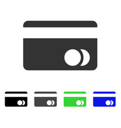 banking card flat icon vector image