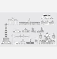 berlin skyline line art 10 vector image
